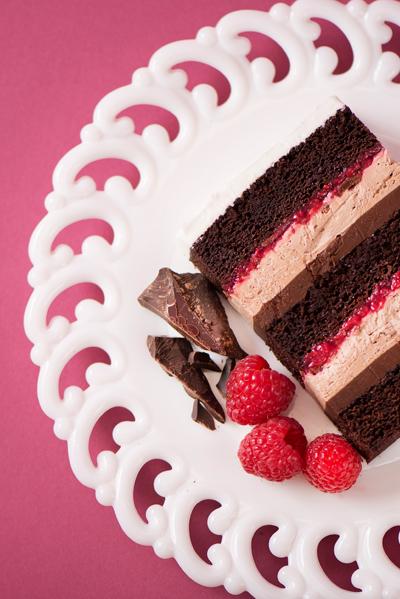 chocolate raspberry wedding cake