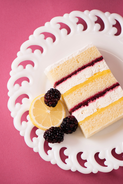 lemon berry wedding cake