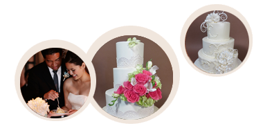 Semi-custom affordable wedding cakes